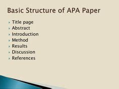 Title page for an apa format essay